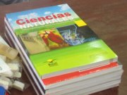 A picture of text books